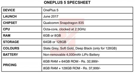 OnePlus 5 se dung Snapdragon 835, pin 4000 mAh - Anh 3