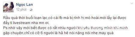 Ngoc Lan tiet lo su that dang sau status 'khong dam om con, muon nhay song chet' - Anh 1