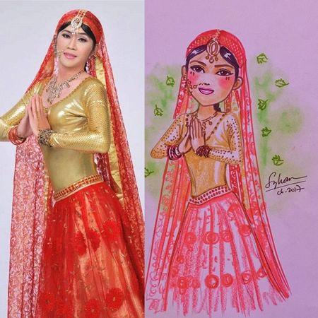 Hoai Linh, My Tam… cung dan sao Viet 'bien hoa' qua net ve chibi day nghe thuat - Anh 1
