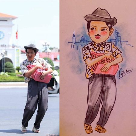 Hoai Linh, My Tam… cung dan sao Viet 'bien hoa' qua net ve chibi day nghe thuat - Anh 6