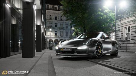 Porsche 911 Turbo S do phong cach Dark Knight 'cuc doc' - Anh 1