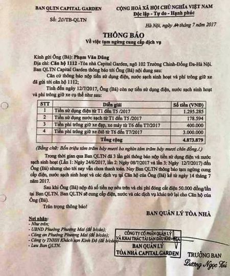 Cang thang tiep tuc leo thang tai Capital Garden Truong Chinh - Anh 1