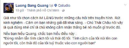 Bi chi trich xac lao voi tien boi, Luong Bang Quang phan bua - Anh 2