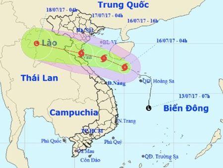 Sang 17-7, bao so 2 se di vao cac tinh tu Thanh Hoa den Ha Tinh - Anh 1