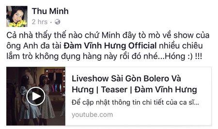 Thu Minh hao huc voi liveshow Bolero 'khung' cua Dam Vinh Hung - Anh 1