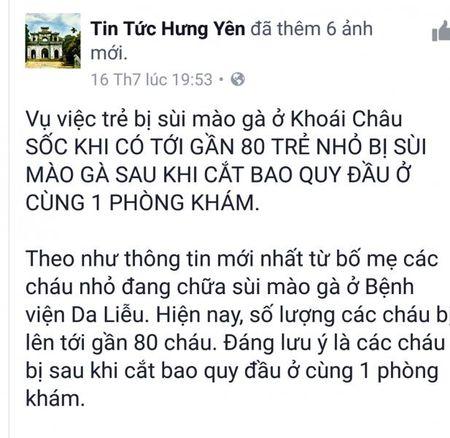 SOC: Hon 80 be trai bi sui mao ga sau khi cat bao quy dau o phong kham tu - Anh 1