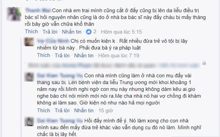 SOC: Hon 80 be trai bi sui mao ga sau khi cat bao quy dau o phong kham tu - Anh 2