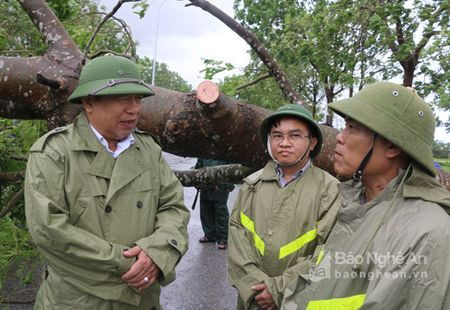 Chu tich Nguyen Xuan Duong kiem tra cong tac khac phuc bao o Do Luong - Anh 1