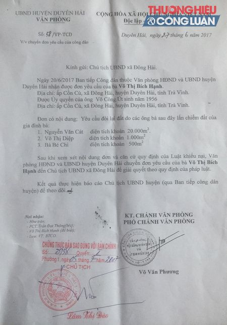 Khi dat la 'chum khe ngot' (Tra Vinh) - Bai 1: Ai lan chiem dat cua MVNAH? - Anh 4