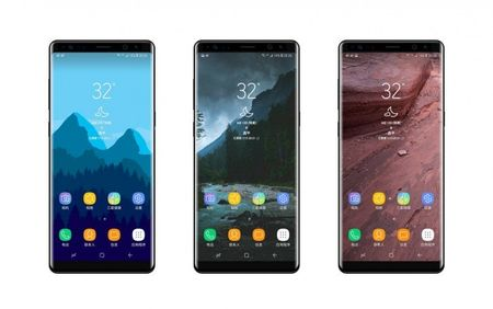 Galaxy Note 8 lo dien hoan toan mat truoc - Anh 1