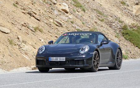 Hinh anh dau tien cua Porsche 911 mui tran tren duong chay thu - Anh 1