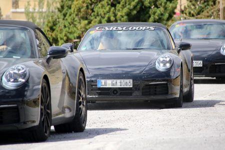 Hinh anh dau tien cua Porsche 911 mui tran tren duong chay thu - Anh 5