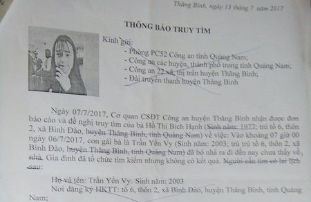 "Nu sinh Quang Nam ""mat tich"" hon 10 ngay dang o... Sai Gon - Anh 1"