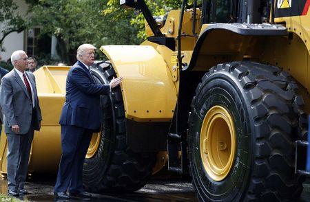 Ong Trump ngoi xe cuu hoa, keu goi dung hang noi - Anh 5