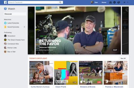 Facebook Watch tham vong lat do YouTube - Anh 1