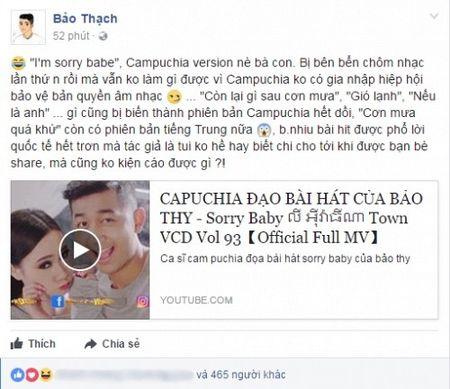 Hot: 'Cha de' hit cua Bao Thy to ca si Campuchia dao nhai trang tron - Anh 1
