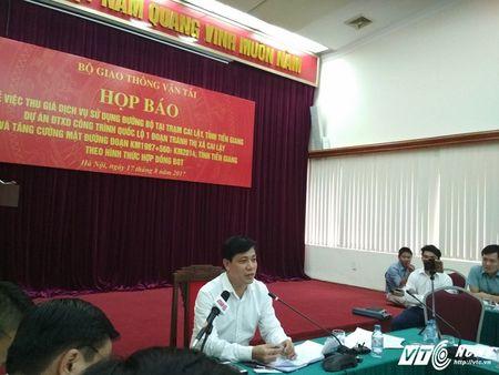 Bo GTVT hop bao tram thu phi Cai Lay: 'Neu sai ve hinh su se xu ly hinh su' - Anh 1