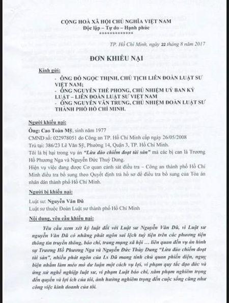 Ong Cao Toan My de nghi ky luat LS cua Phuong Nga - Anh 1