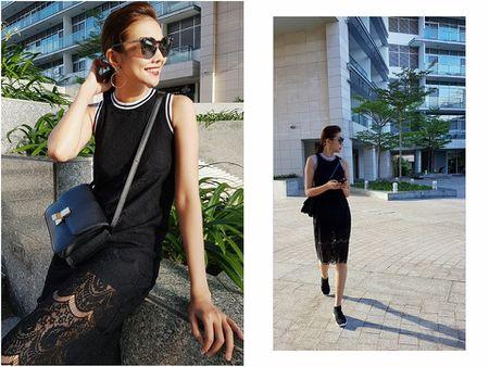 Cach dien chan vay va sneaker cuc chat cho co nang sanh dieu xuong pho - Anh 1