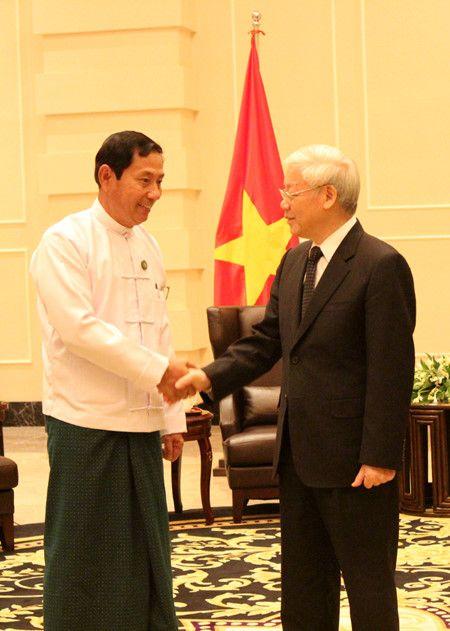 Viet Nam coi trong hop tac voi Dang Doan ket va Phat trien cua Myanmar - Anh 1