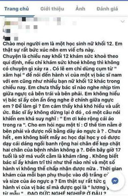 Nu sinh to bac si so nguc khi kham: Dung chuyen mon - Anh 1