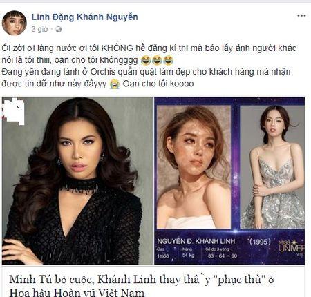 Khanh Linh The Face len tieng ve thong tin du thi Hoa hau Hoan vu Viet Nam 2017 - Anh 3