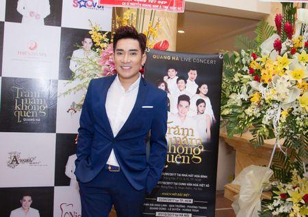 Le Quyen va Quang Ha on ngheo ke kho trong buoi hop bao live show - Anh 1
