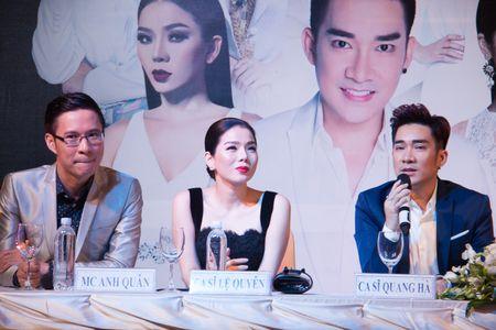 Le Quyen va Quang Ha on ngheo ke kho trong buoi hop bao live show - Anh 3