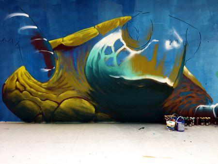 Nghe si Graffity Nhat ban 'tung hoanh' tai Ha Noi voi nhung buc tranh khong lo - Anh 10