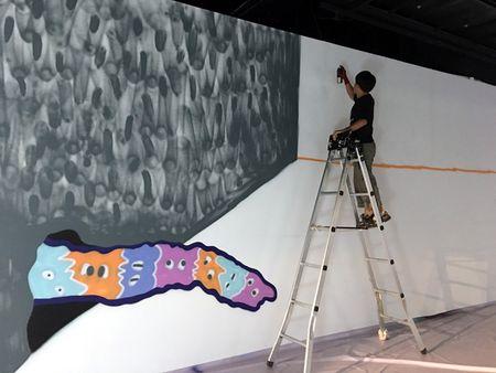 Nghe si Graffity Nhat ban 'tung hoanh' tai Ha Noi voi nhung buc tranh khong lo - Anh 12