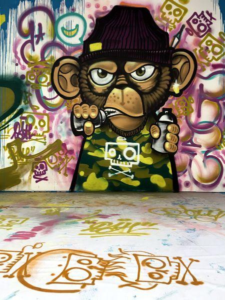 Nghe si Graffity Nhat ban 'tung hoanh' tai Ha Noi voi nhung buc tranh khong lo - Anh 4