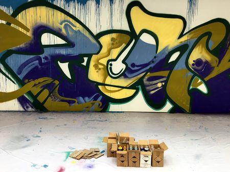 Nghe si Graffity Nhat ban 'tung hoanh' tai Ha Noi voi nhung buc tranh khong lo - Anh 6