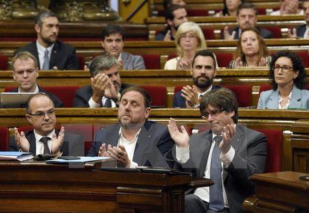 Chinh quyen Catalonia ky sac lenh to chuc trung cau doi doc lap - Anh 1