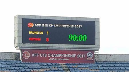 U.18 Viet Nam thang dam Brunei 8-1 tai giai Dong Nam A 2017 - Anh 1