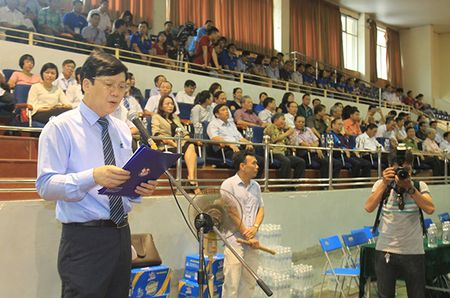 Khai mac Giai Bong ban Cup Hoi Nha bao Viet Nam lan thu XI - Anh 3