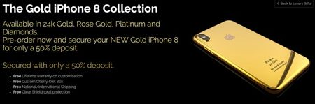 Da co the dat truoc iPhone 8 phien ban ma vang 24K - Anh 1