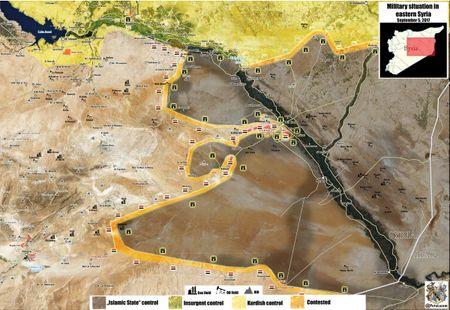 'Ho Syria' chuan bi dap tan vong vay IS quanh can cu quan su Deir Ezzor (chum video) - Anh 1