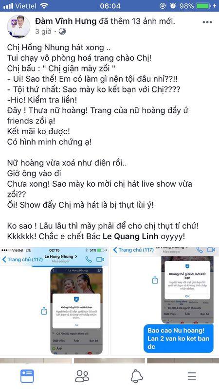 """Bi Hong Nhung gian, Dam Vinh Hung van khong quen """"da xeo"""" phat ngon cua Tung Duong - Anh 2"""