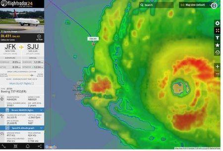 May bay Delta lieu linh cho 173 hanh khach xuyen qua sieu bao Irma - Anh 2