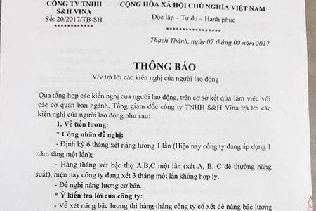Vu hang nghin cong nhan Cty S&H Vina dung viec doi quyen loi: Cong doan da va dang cham soc tot cho cong nhan - Anh 1