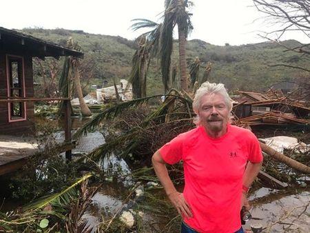 Thien duong cua 'di nhan' Richard Branson tan hoang sau sieu bao Irma - Anh 1
