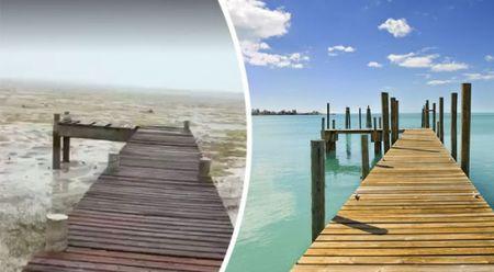 Bao Irma hut het nuoc khoi bo bien o Bahamas - Anh 1