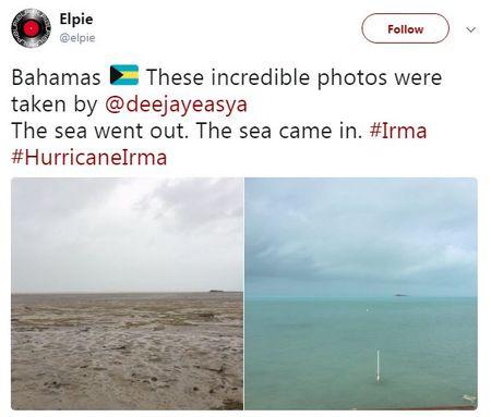 Bao Irma hut het nuoc khoi bo bien o Bahamas - Anh 2