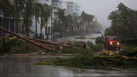 Bao Irma gay ngap lut va mat dien tren dien rong tai bang Florida - Anh 1
