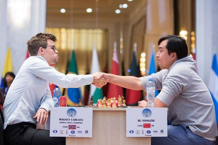 Dia chan o Cup the gioi, Vua co Magnus Carlsen bat ngo bi loai - Anh 2
