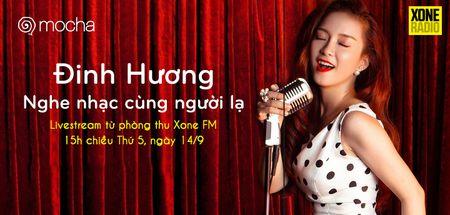 Ca si Dinh Huong livestream 'Nghe nhac cung nguoi la' de tim ban - Anh 3
