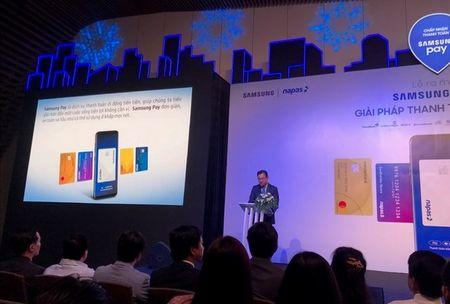 Samsung Pay: Thanh toan khong can vi hay the ngan hang - Anh 1