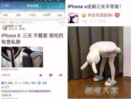 Soc: Nhieu gai tre TQ ban than de len doi iPhone 8, iPhone X - Anh 2