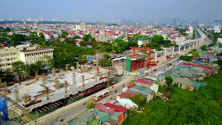 Cong truong tuyen metro 36.000 ty dau tien o Ha Noi - Anh 2