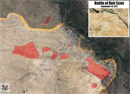 'Ho Syria' chu cong danh guc IS, chiem cu dia chien luoc tai Deir Ezzor - Anh 1